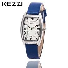 Nuevas Llegadas KEZZI Cuero Marca Correa Relojes Mujeres Vestido Reloj Relogio Impermeable reloj de Señoras Relojes reloj K773