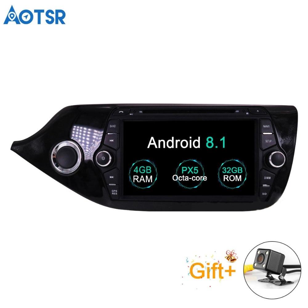 Aotsr Android 8.1 GPS di navigazione per Auto Lettore DVD Per KIA CEED 2013-2016 multimedia 2 din radio registratore 4 GB + 32 GB 2 GB + 16 GB