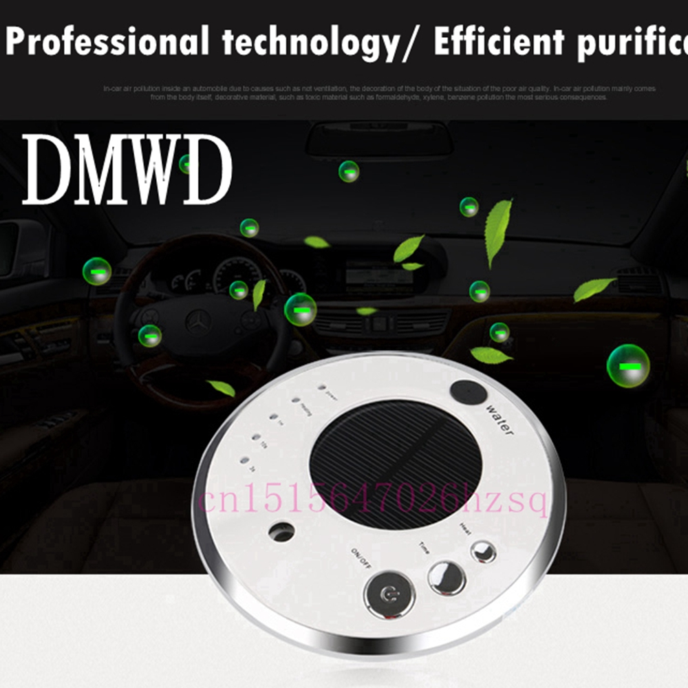 DMWD Ultrasonic Car air purifier Solar energy office household Aroma humidifier Negative ions Remove Formaldehyde Haze and PM2.5 free shipping air purifier for household formaldehyde haze intellisense aseptic air purifiers