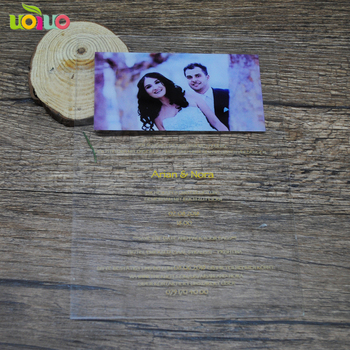 Luxury clear acrylic wedding invitation card handmade printing invitations for wedding decoration