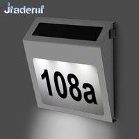 Jiaderui led الشمسية أضواء مصابيح مصابيح الحديقة الفولاذ 3led الإضاءة بالطاقة الشمسية doorplate البيت إضاءة خارجية