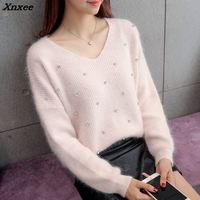 2018 Thickening turtleneck sweater female pullover Spring and winter basic shirt loose batwing sleeve long sleeve top coarse