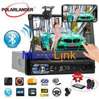 Autoradio reproductor de Radio para coche bluetooth MP5 Audio estéreo FM radio Bluetooth REPRODUCTOR DE CASETE USB/TF 1 DIN 12V pantalla táctil de 7 pulgadas