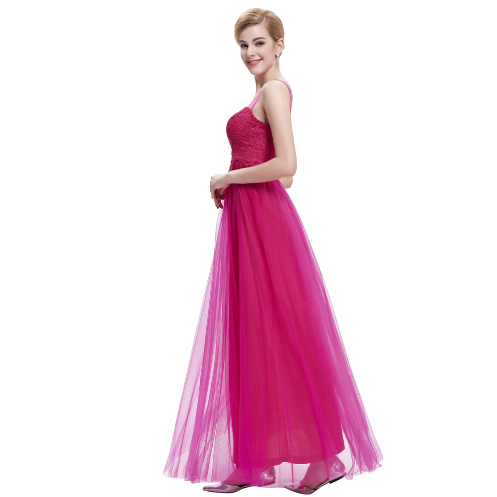 Beautiful Evening Dress Long Starzz Sleeveless Black Champagne Fuchsia Lace  Tulle 2015 New Arrival Formal Dresses Party Gowns 37-in Evening Dresses  from ... 78fd4042aa85