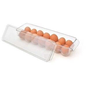 Image 2 - 주방 계란 보관 상자 14/21 그리드 계란 상자 식품 용기 주최자 상자 스토리지 더블 레이어 다기능 계란 crisper
