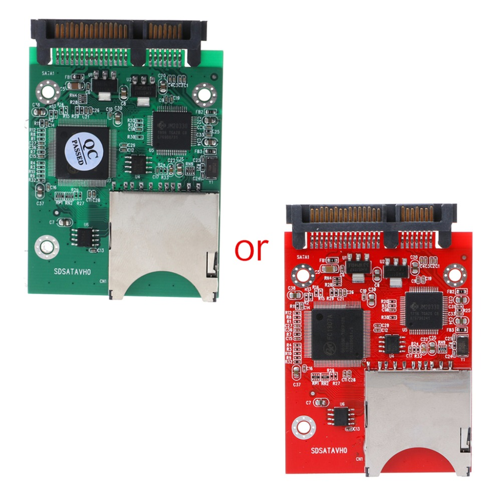 "Sintech SD//SDHC//MMC Flash Memory card to SATA Adapter with case as 2.5/"" SATA SSD"