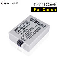 PALO LP-E5 LPE5 LP E5 batería de la Cámara li-ion de alta capacidad 7,4 V 1800 mah para Canon Eos 450D 500D 1000D beso X3 beso F Rebel Xsi