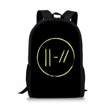 ThiKin Twenty one pilots Printed School Bags Backpacks rucksack black plecak Teenager Boys Girls Orthopedic Satchel Dropshipping