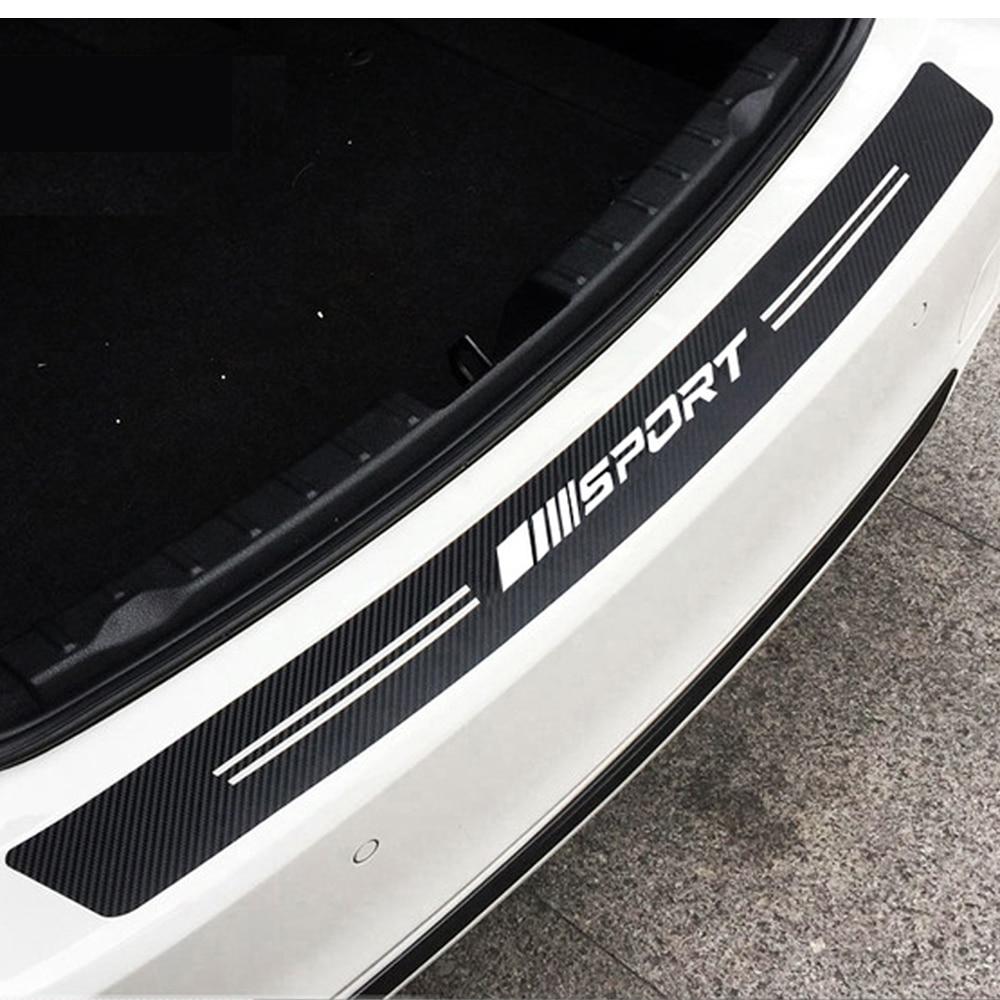 Carbon Fiber Pattern Sport Car Rear Bumper Protector Sticker For Mercedes Benz AMG W212 E200 W213 W204 W205 W176 W211 GLC GLK|Car Stickers| |  - title=