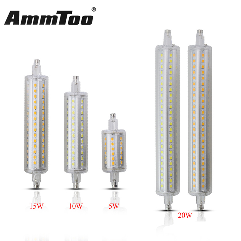 Dimmable led r7s 118mm 10w 5w 78mm smd2835 lampada led r7s for Led r7s 78mm osram