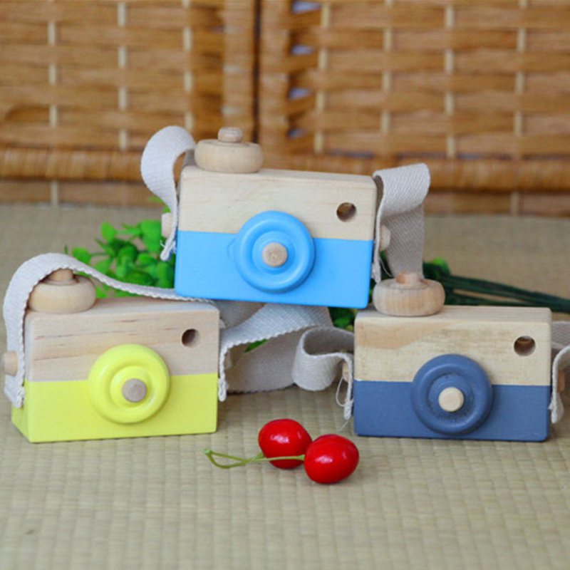2018 Cute Nordic Hanging Wooden Camera Toy 9.563cm Room Decor Furnishing Articles Baby Birthday Gifts Wood Toys For Children