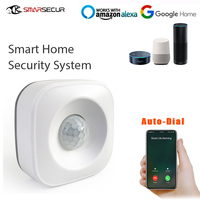 Wireless Motion PIR Sensor Security system Infrared Smart On/Off Lights Work with Alexa and WiFi Smart Switch