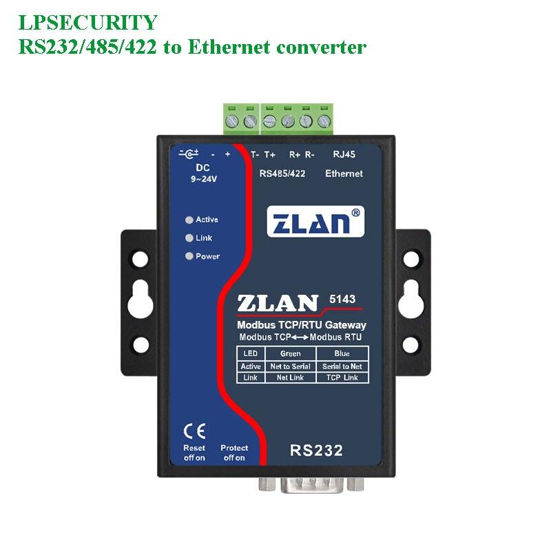 Güvenlik ve Koruma'ten Bina Otomasyonu'de LPSECURITY ZLAN5143 RS232/RS485/RS422 TCP/IP ethernet RJ 45 dönüştürücü izolasyon çok Mobdus RTU ağ geçidi seri aygıt sunucu title=