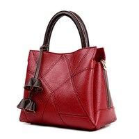 New ladies leather casual zipper handbag Korean stylish leather cross models solid color diagonal shoulder bag tassel bag