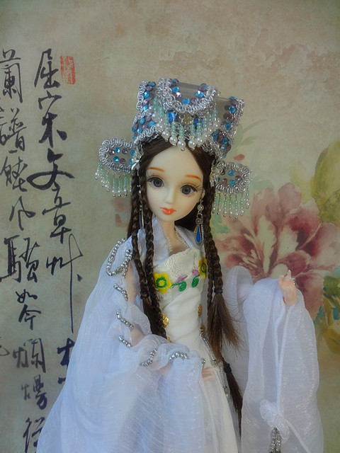"12"" Handcrafted Collectible Chinese Princess Dolls With Stand Vintage BJD Doll Toys For Adults Kids Christmas Gifts"