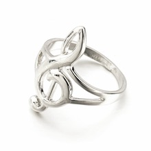 Wholesale 1pc Unique Hollow Out Musical Notes Rings For Women And Men Jewelry With Box