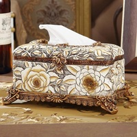 High grade resin carving European tissue box carton palace retro luxury decoration