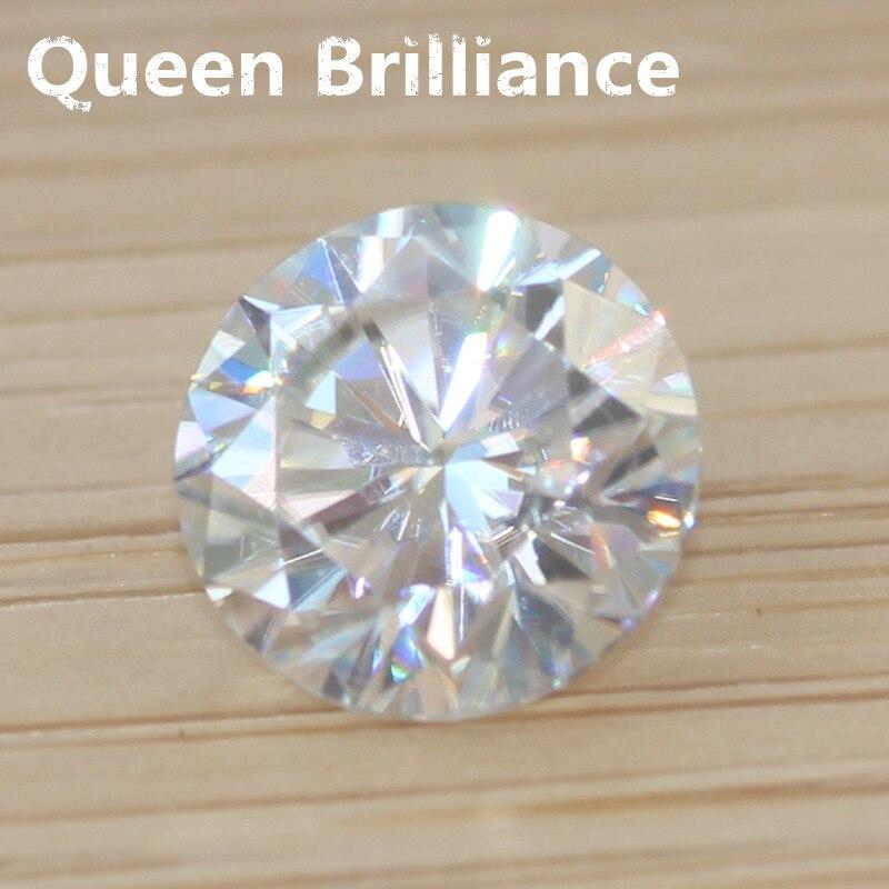 0.8 карат 6 мм круглый бриллиант нет меньше чем GH VVS2 Муассанит высокое качество Тесты Положительный Лаборатория Grown Бриллиантовой Россыпью ка... ...