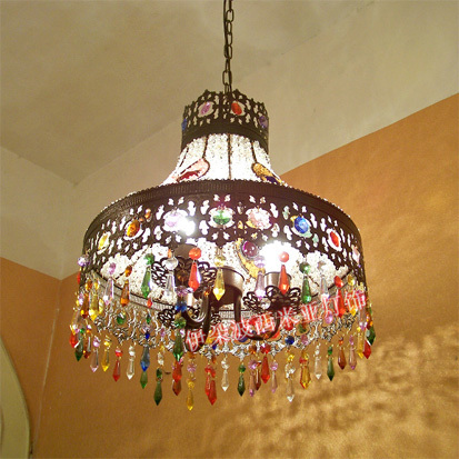 Bohemia pendant light colorful crystal pendant light american style living Pendant LAMP entranceway CRYSTAL LAMP BXY5