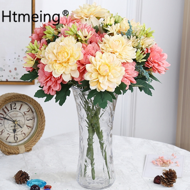 home decor silk floral arrangement floral decor tropical.htm htmeing dahlia artificial silk flowers gerber daisies  artificial silk flowers gerber daisies