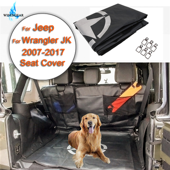 WISENGEAR Car Back Full Seat Cover Protector With Storage Bag Tool Luggage Cargo Gadget For Jeep Wrangler JK 2007-2017 Pet Mat