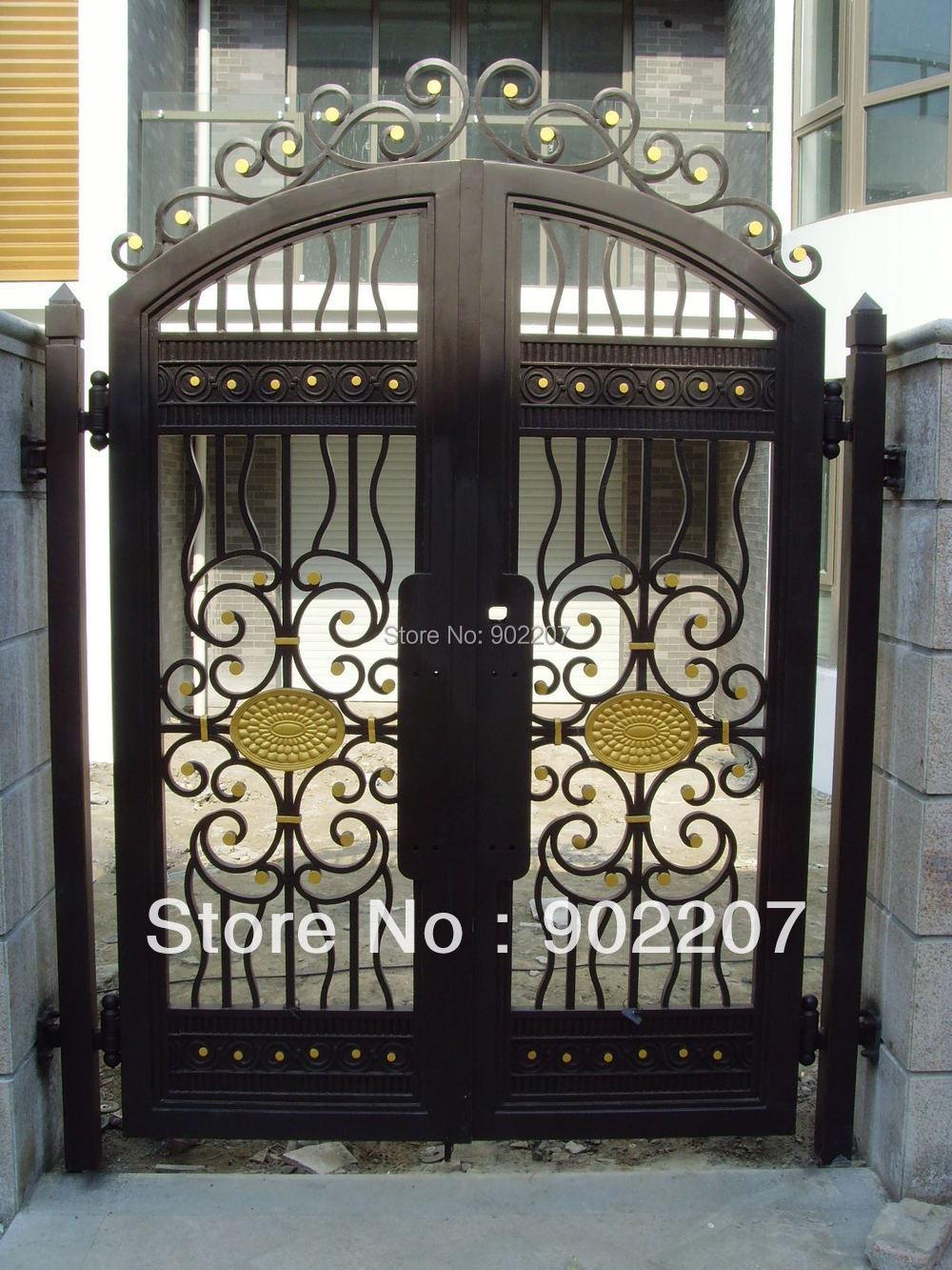 Puerta exterior hierro cool puerta entrada aluminio for Puertas de entrada de hierro