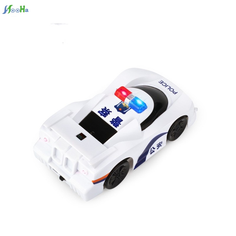 Remote Control Car Toys With Sound Wall Charging Model In Rectangular Factory Direct Wholesale Creative Police