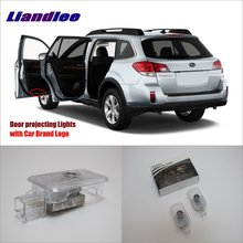 Liandlee Car Door Ghost Shadow Lights For Subaru Outback 2012~2015 Courtesy Doors Lamp / Brand Logo LED Projector Welcome Light liandlee car door ghost shadow lights for acura mdx acura zdx courtesy doors lamp brand logo led projector welcome light