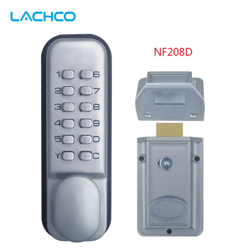 LACHCO mechanical door locks Keyless Digital Machinery Code Keypad Password Entry Door Lock L17006 keyless digital lock keypad password code spring bolt access electronic door locks l
