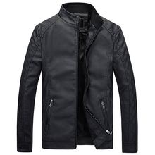Hot autumn and winter brand men 's leather jacket motorcycle suit casual jacket classic leather jacket coat