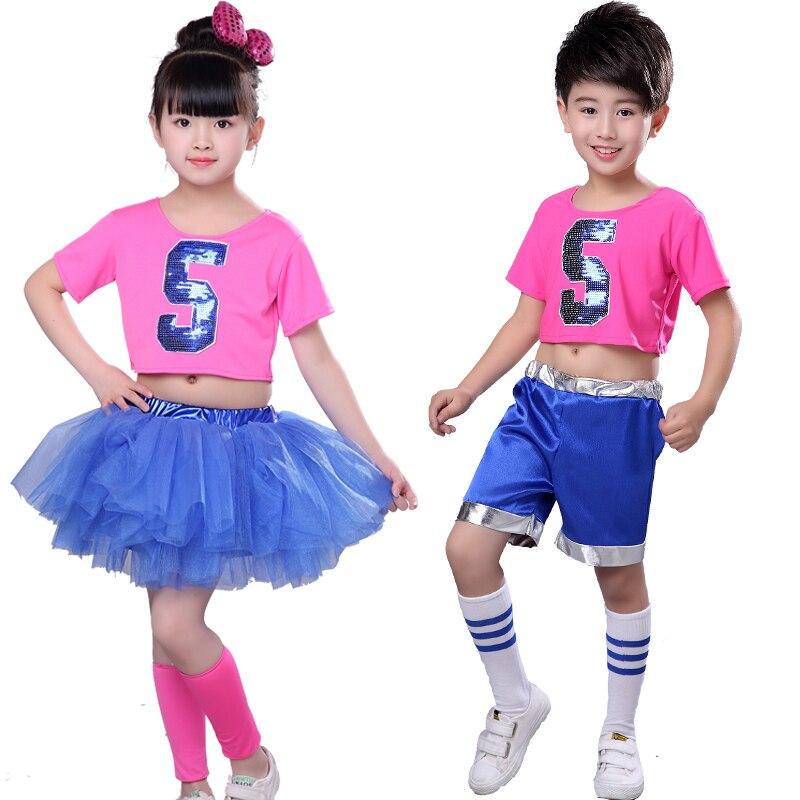 Children's Jazz Dance Latin Dance Costumes Girls Tutu  Cheerleade Sequin Princess Modern Dance Costume