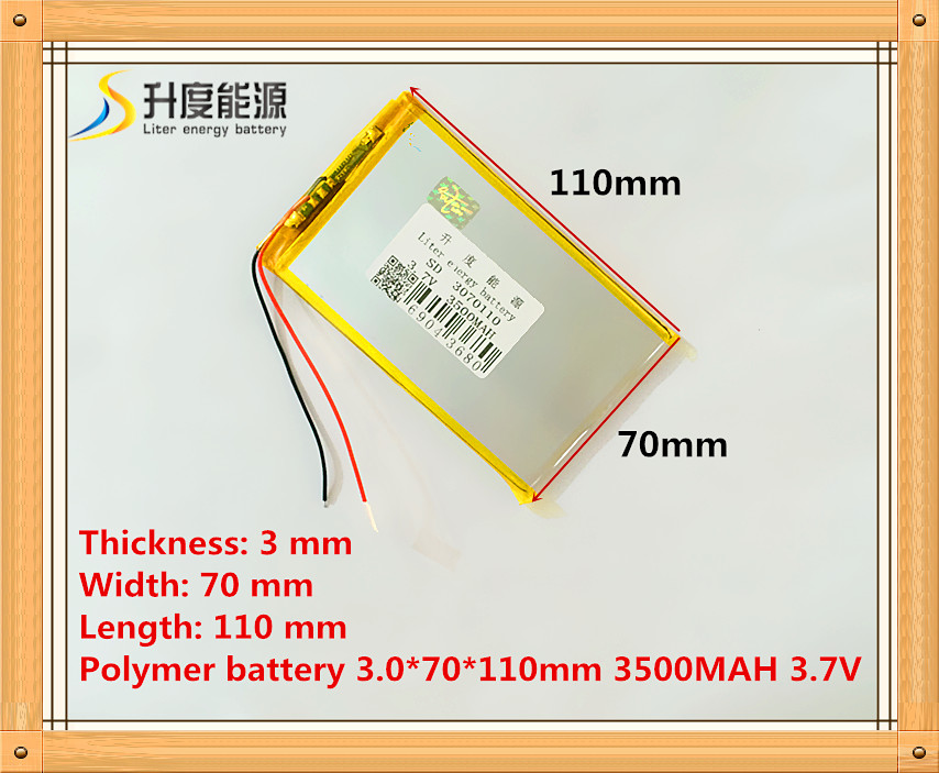 The tablet battery 3 7V 3500mAH 3070110 Polymer lithium ion Li ion battery for tablet pc