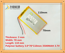 The tablet battery 3.7V 3500mAH 3070110 Polymer lithium ion / Li-ion battery for tablet pc battery