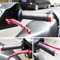 """Envío libre universal de la motocicleta manillar moto bike apretones de calefacción calienta 7/8 """"22.5mm climatizada moldeado grips manillar calentadores"""