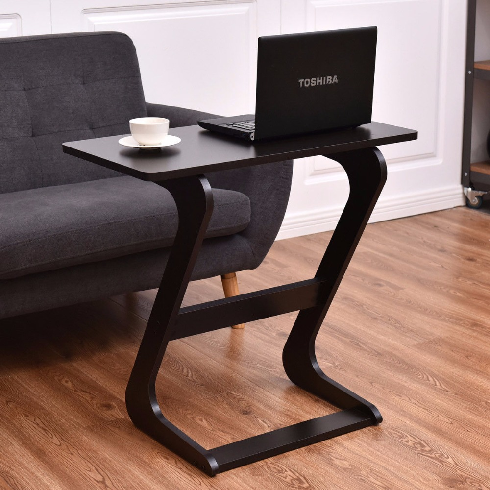 Small Wooden End Table With Unique Shape Borkut