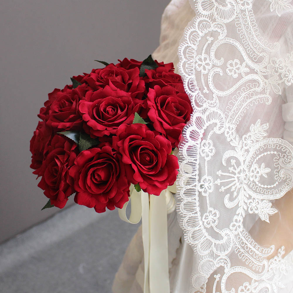 Aliexpress Buy 2018 Real Images Artificial Red Rose Wedding