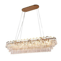 Postmodern light luxury living room dining room glass crystal chandelier porch stairs bedroom project hotel model room lamp
