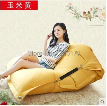 Zeaxanthin Beanbag beanbag chair folding simple cotton Double beanbag sofa ( filler included)bed tatami bed computer Ywxuege