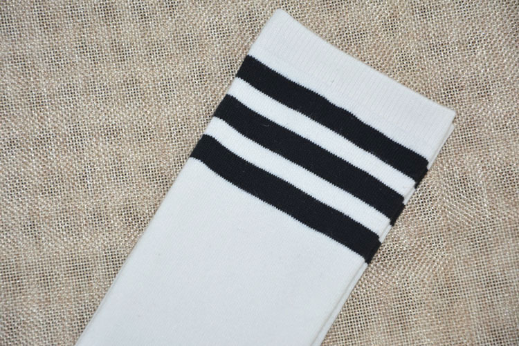 Seksi ženske boje klasične prugaste pamučne čarape Lacrosse duge - Donje rublje - Foto 6