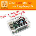 Raspberry pi 2/3 model B case with free fan. support Pi2/Pi3.Good cool case