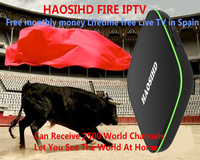 HAOSIHD iptv box A6 tv box android 7.1 have Arabic iptv spain Europe Italy iptv 2500+ Channels sport