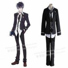 mukami ruki cosplay costumes Japanese anime  Diabolik Lovers clothing(blazer+pants+tie+shirt+vest)