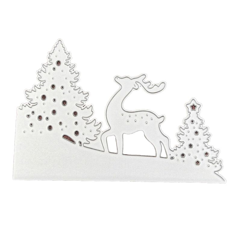 Metal Tree Gift Cutting Die Embossing Stencil Mold DIY Christmas Art Handcraft