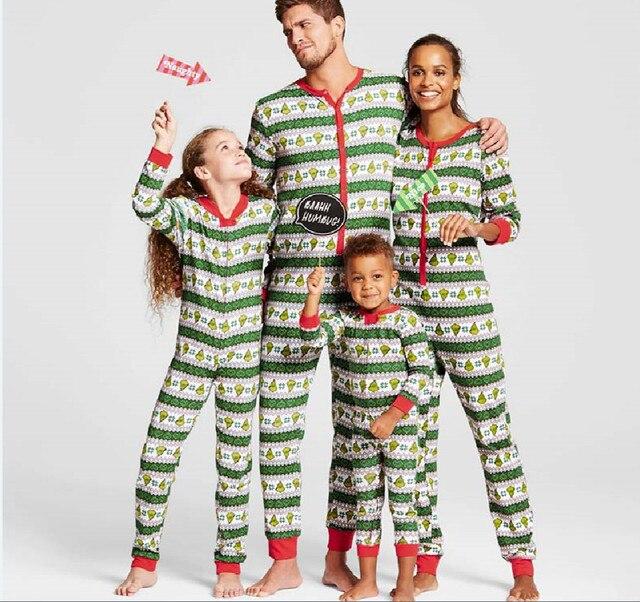 138590bd1899 2018 Family Matching Clothes Christmas Bodysuits Pajamas Set Women ...