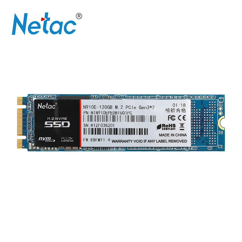Netac N910E 120GB SSD M.2 PCI-E SSD HD Disk Storage High Speed SSD Disk Internal Solid State Drive Flash for Pc Laptop desktop ourspop op 518 high speed key style 4gb usb2 0 memory flash disk for desktop laptop