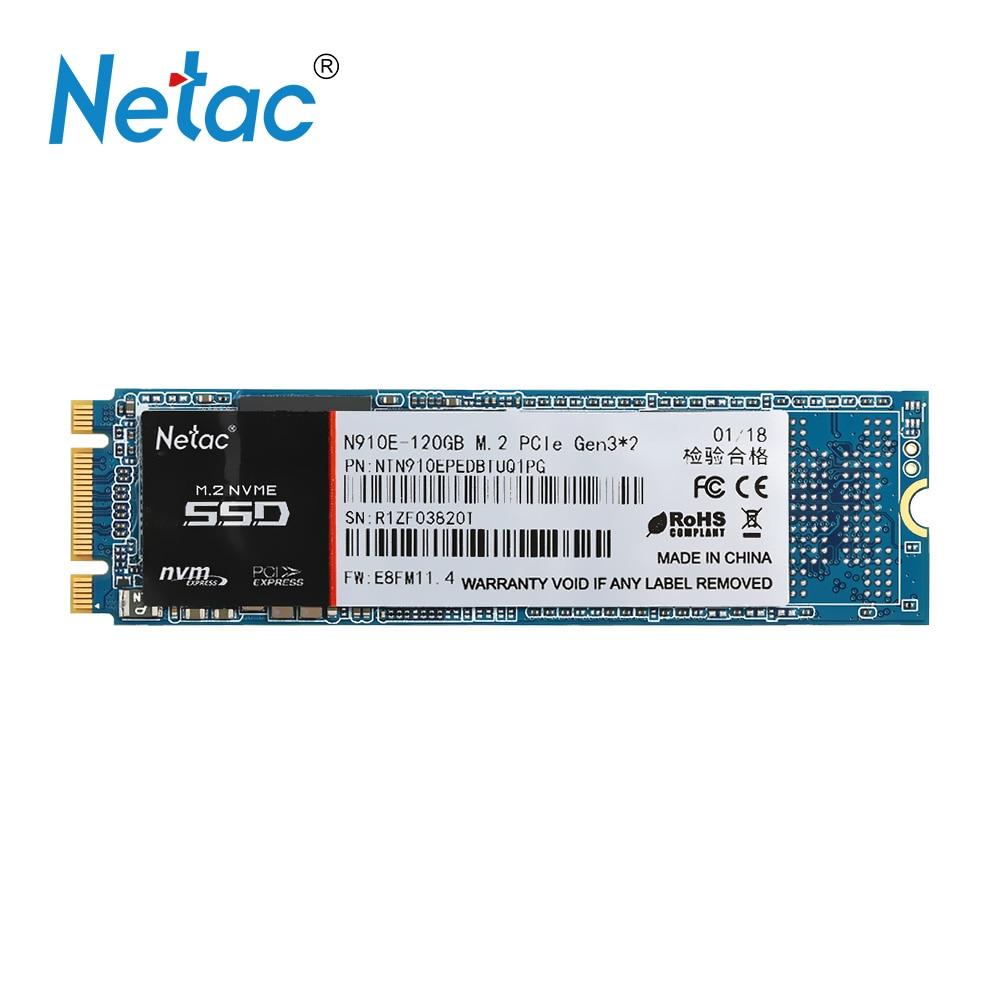 Netac N910E 120GB SSD M.2 PCI-E SSD HD Disk Storage High Speed SSD Disk Internal Solid State Drive Flash for Pc Laptop desktop 22x42mm kingspec 60gb 120gb m 2 solid state drive ngff m 2 interface ssd pcie mlc for lenovo thinkpad hp asus laptop notebook