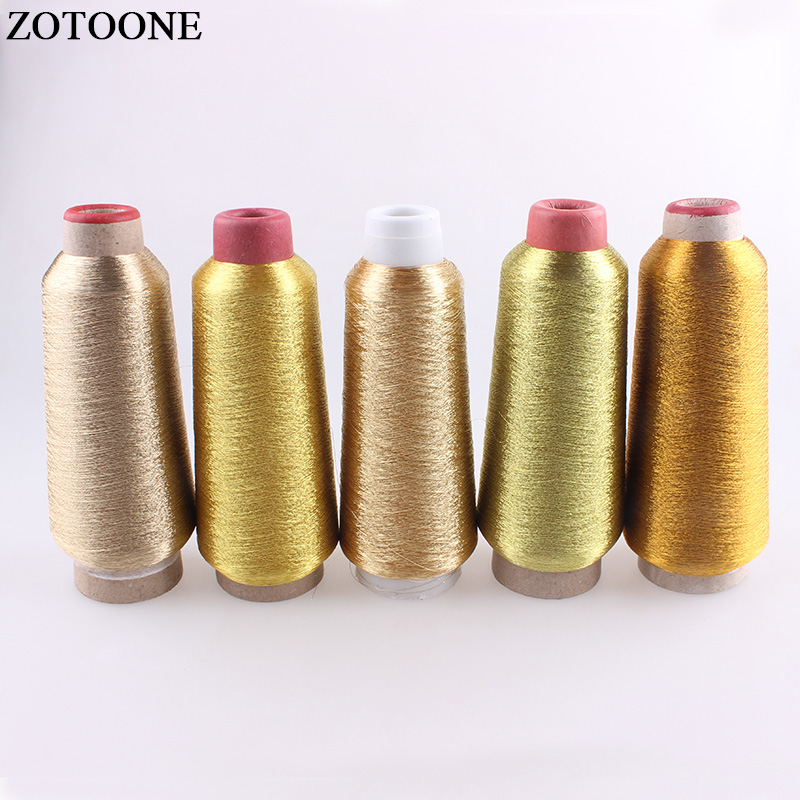 ZOTOONE 3500M/Roll DMC Floss Metallic DIY Sewing Fabric Accessories For Clothes Embroidery Gold Threads For Sewing Craft Machine