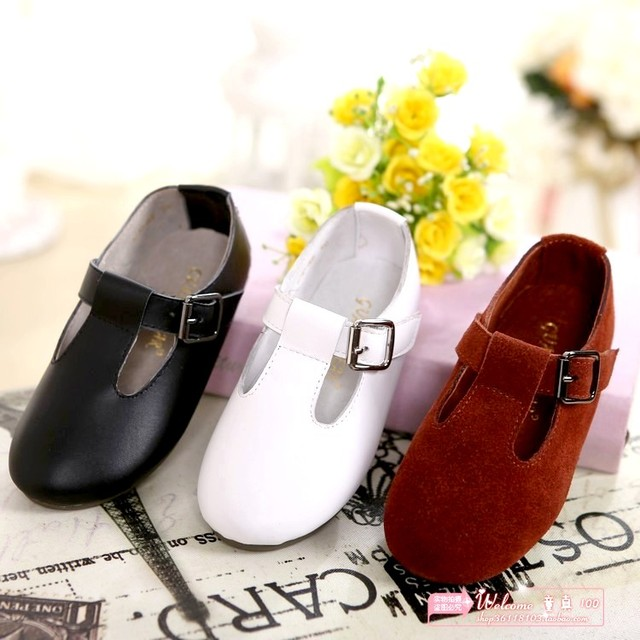 children shoes girls boys shoes spring new  kids leather shoes girls single shoes casual flat