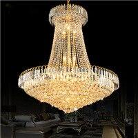 Crystal Chandelier Lustres De Cristais Lustre Cristal D40 D60 D80 Stair Light LED Flush Ceiling Chandelier
