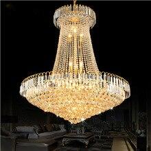 Роскошная хрустальная люстра золотого цвета свет лестницы свет светодиодный заподлицо люстра люстры de Cristais люстра с кристаллами диаметр 40 60 80 см
